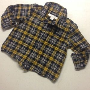12M Burberry Baby Button Down Shirt 12 Months